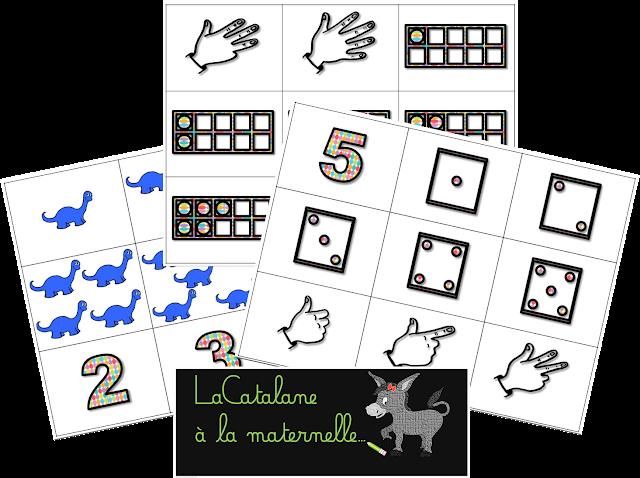 Numération : nombres 1-5 (LaCatalane)