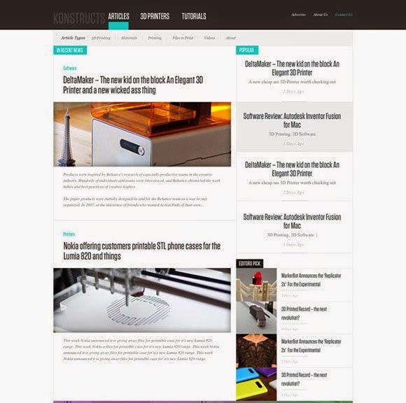 Free Newsblog PSD Website