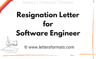 how to write resignation letter for software engineer