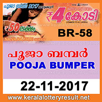 POOJA BUMPER Lottery Results ~ LIVE Kerala Lottery Result