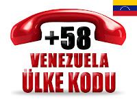 +58 Venezuela ülke telefon kodu