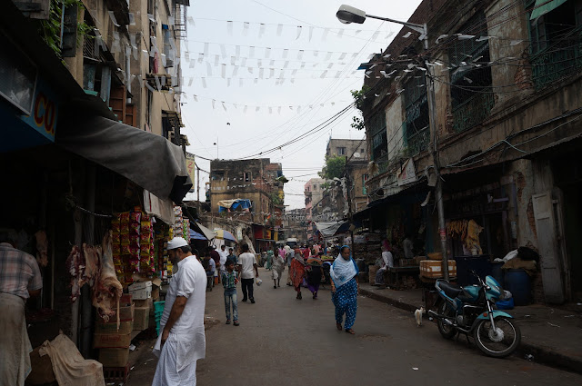 Suasana jalanan di Kolkata, India