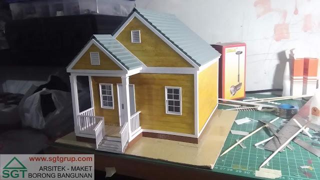 Jasa Pembuatan Maket Rumah Tipe Amerika Model 1