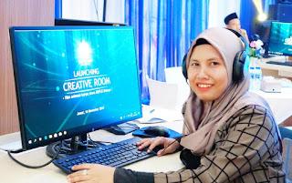 Di creative room Nano Millenial Force animasi karya anak bangsa BLK Bekasi