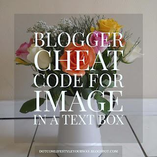 Blogger Cheat Code for Image to Text Box