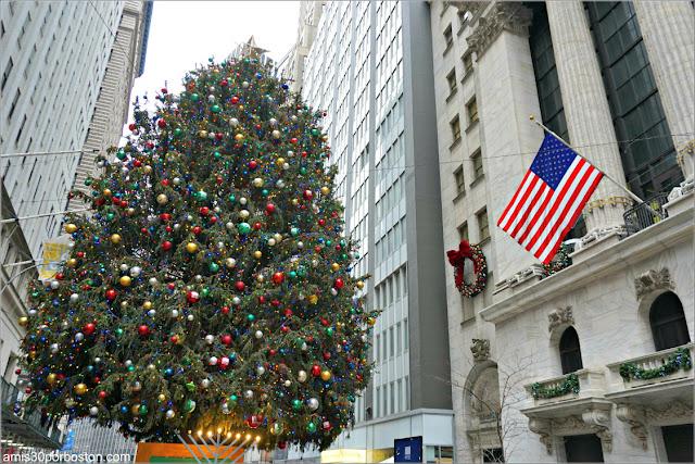 Nueva York antes de Nochevieja en Wall Street
