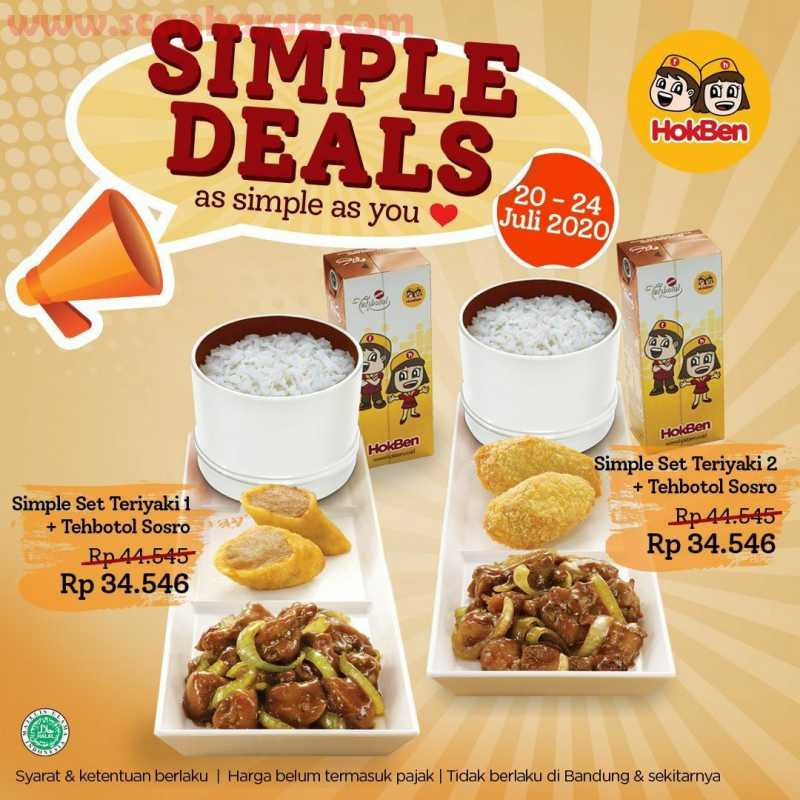 Hokben Promo Paket Simple Deals Periode 20 - 24 Juli 2020