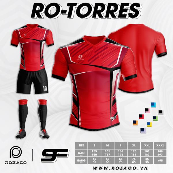 Áo Không Logo Rozaco RO-TORES Màu Đỏ
