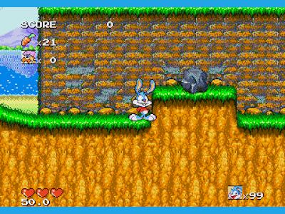 【MD】兔寶寶歷險記原版+Hack無敵版,卡通明星、Tiny Toon Adventures!