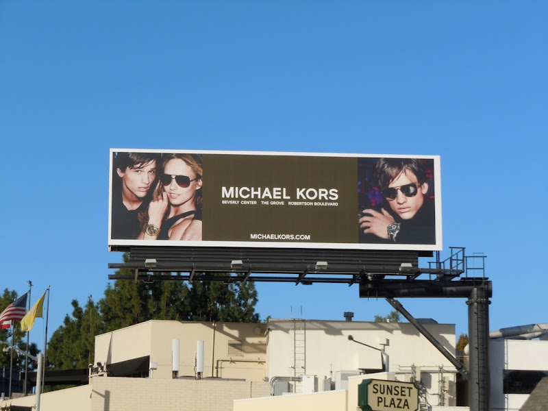 Michael Kors sunglasses billboard