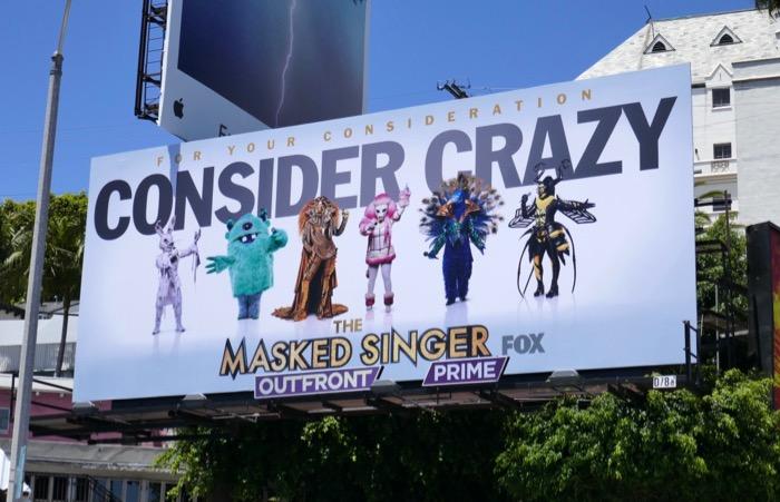 Consider Crazy Masked Singer Emmy FYC billboard