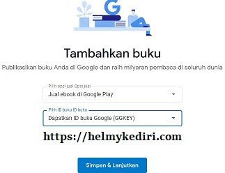 Upload buku pertama ke google play book2