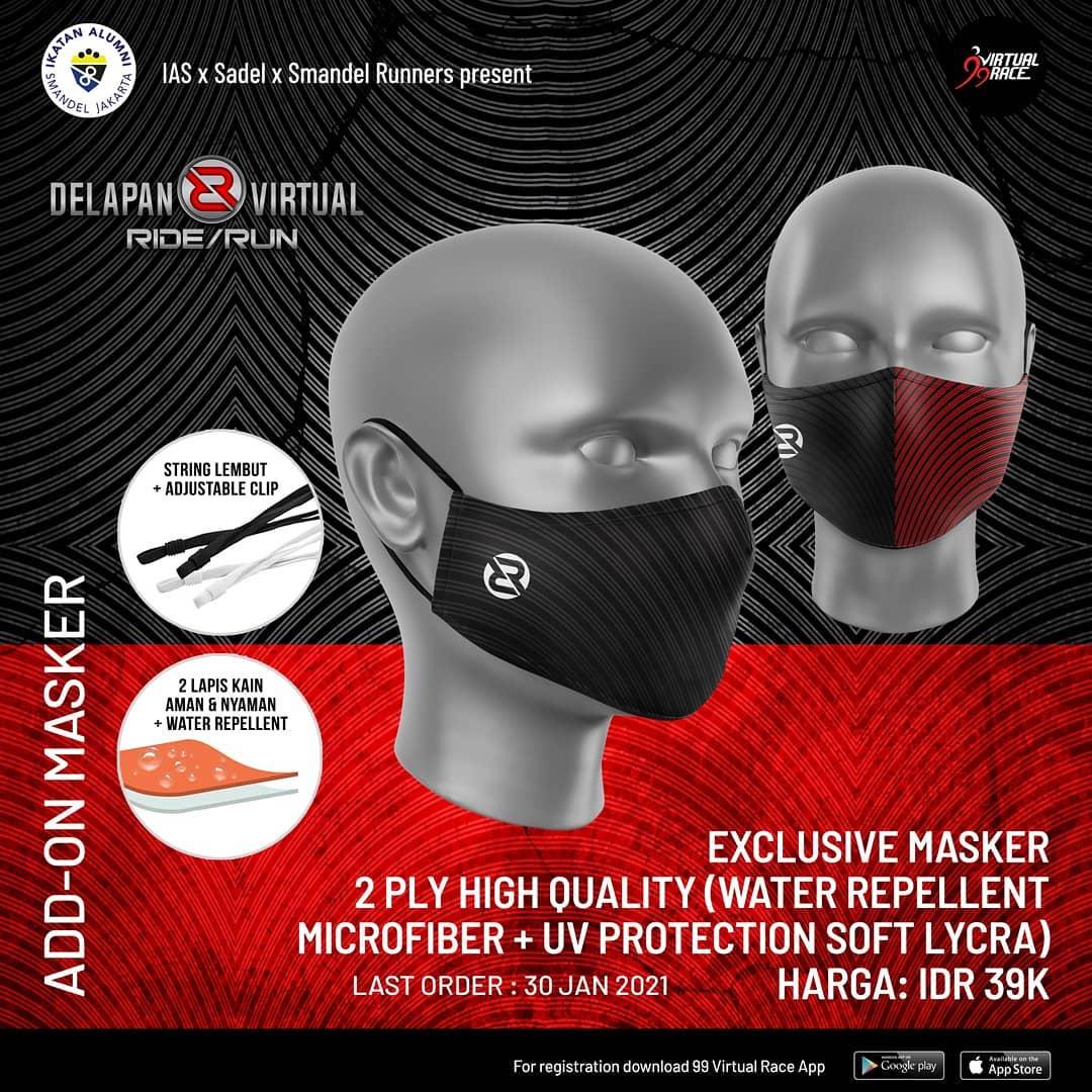 Masker - Delapan Virtual Ride/Run • 2021