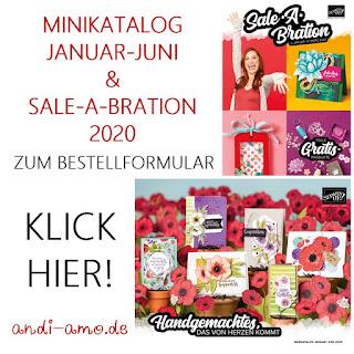 Bestellung Stampin Up Minikatalog und Sale-A-Bration