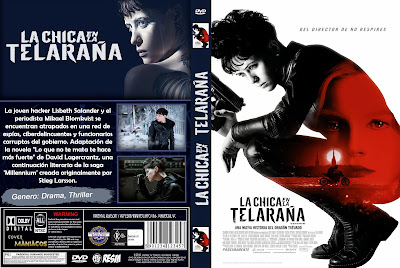CARATULA LA CHICA EN LA TELARAÑA - THE GIRL IN THE SPIDER´S WEB - 2018 [COVER DVD]