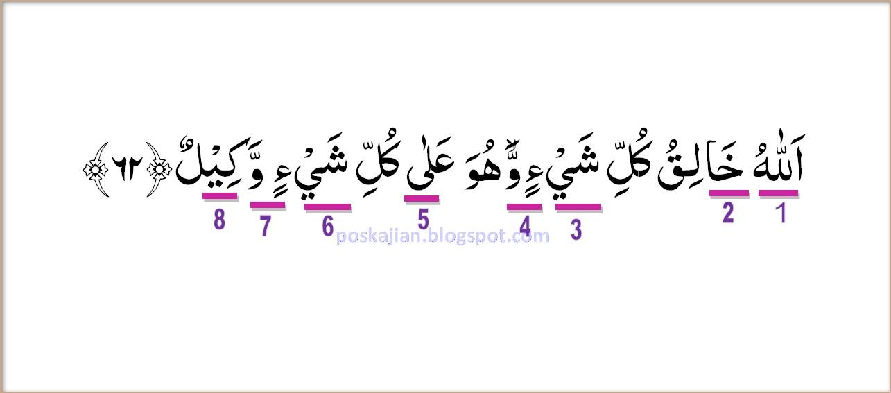 Hukum Tajwid Al Quran Surat Az Zumar Ayat 62 Lengkap Dengan