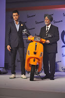 Imran Khan Unveil the New Vespa Scooter
