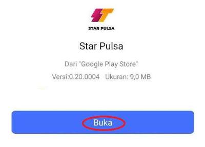 Buka Aplikasi Android Star Pulsa
