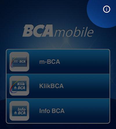 Verifikasi Ulang BCA Mobile - Pilih ikon i