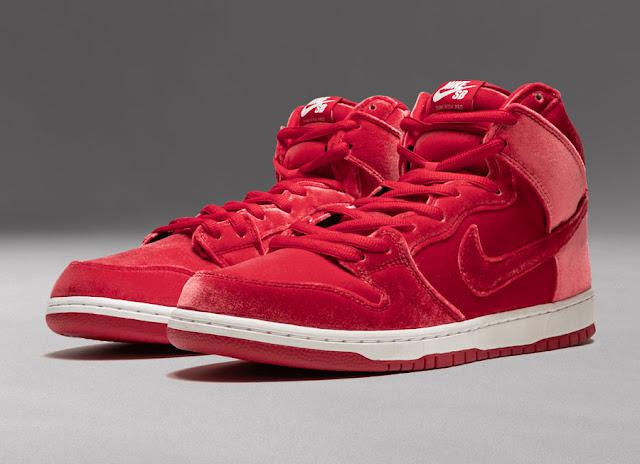 Nike SB Dunk High Premium Red Velvet