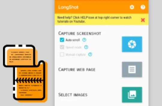 Cara Screenshot Samsung A01 LongShot