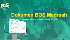Format Surat Penyataan Tanggung Jawab Mutlak (SPTJM) BOS Madrasah Tahun 2021