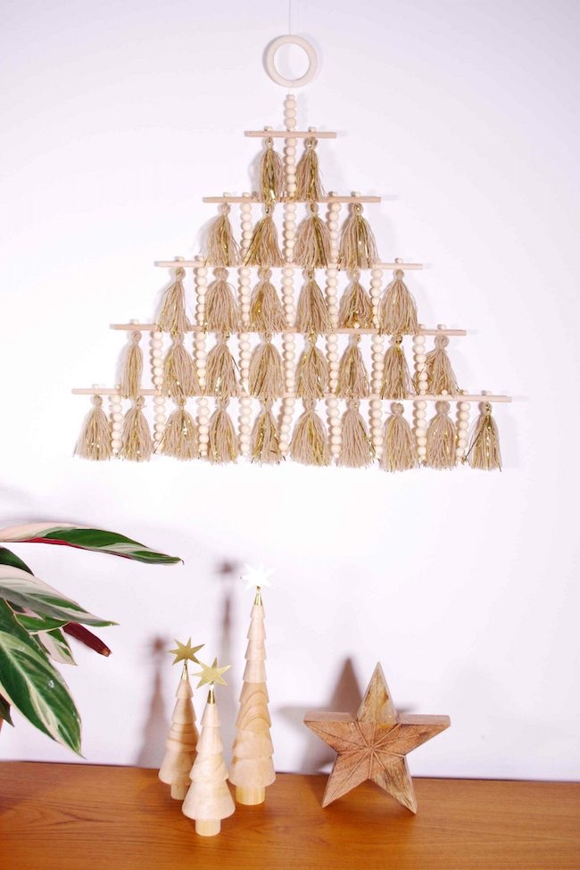 Stylized Christmas Tree Wall Hanging by Idim in Berlin featured at Pieced Pastimes
