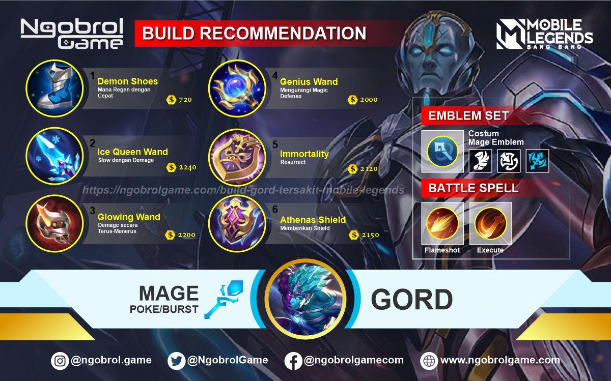 Build Gord  Savage Mobile Legends
