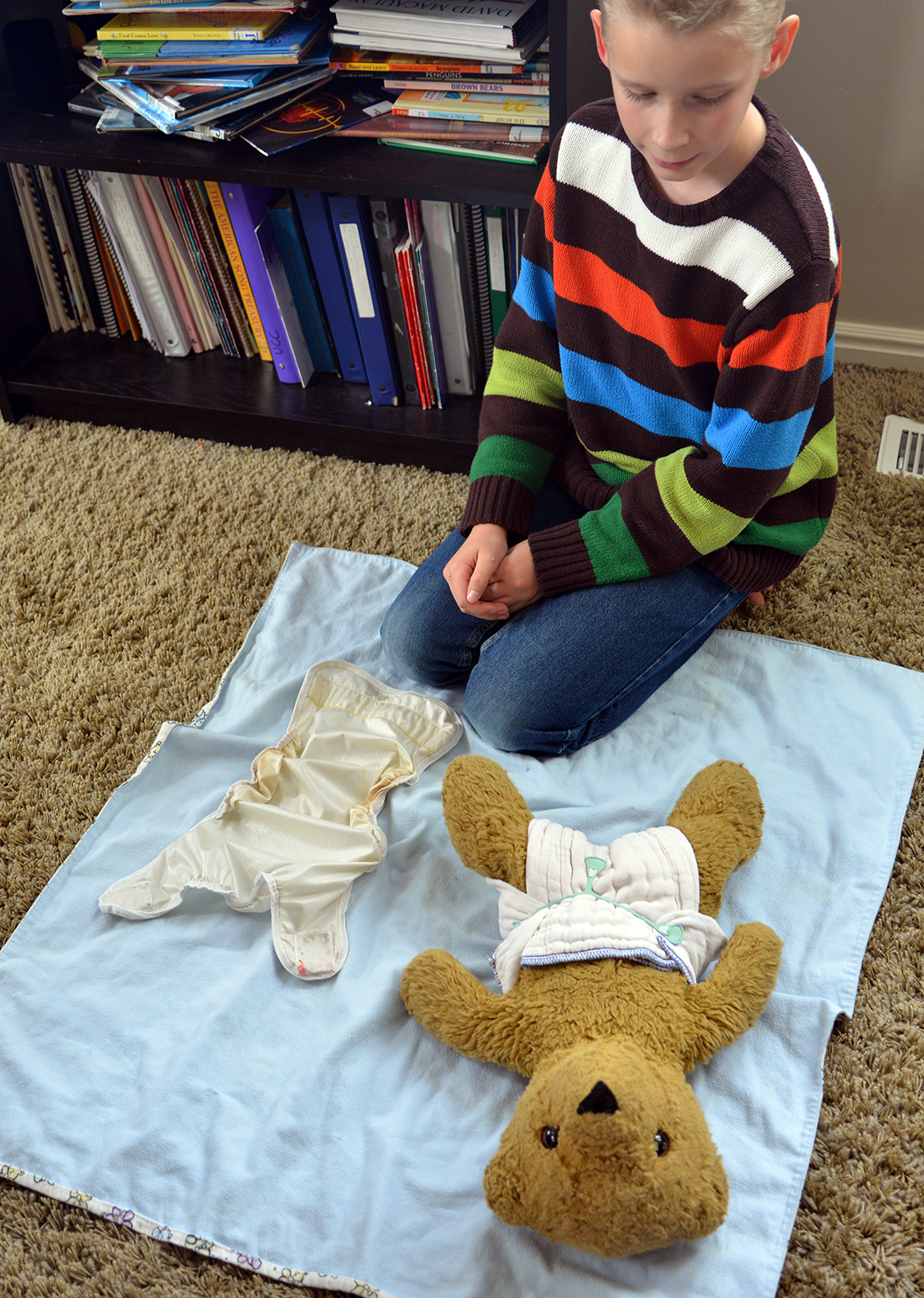 A school of fish: Diapering contests
