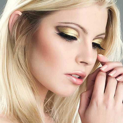 maquillaje ojos dorado tendencia otoño invierno 2016 2017