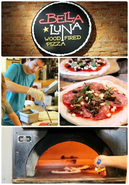 Watch your pizza being made in the open kitchen & then baked in a wood-fired oven at Bella Luna in Harrisonburg. #BlueRidgeBucket #Trekarooing