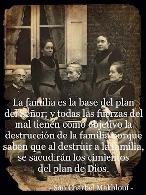 San Charbel sobre la familia