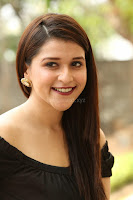 Mannara Chopra in Short Off Shoulder Black Dress ~  Exclusive 025.JPG