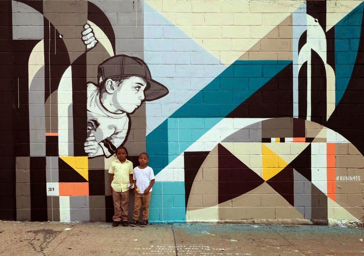 Joe Iurato and Rubin recently teamed up to work on a new collaboration for the Welling Court Mural Project in Queens, New York City. 1