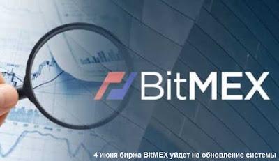 4 июня биржа BitMEX уйдет на обновление системы