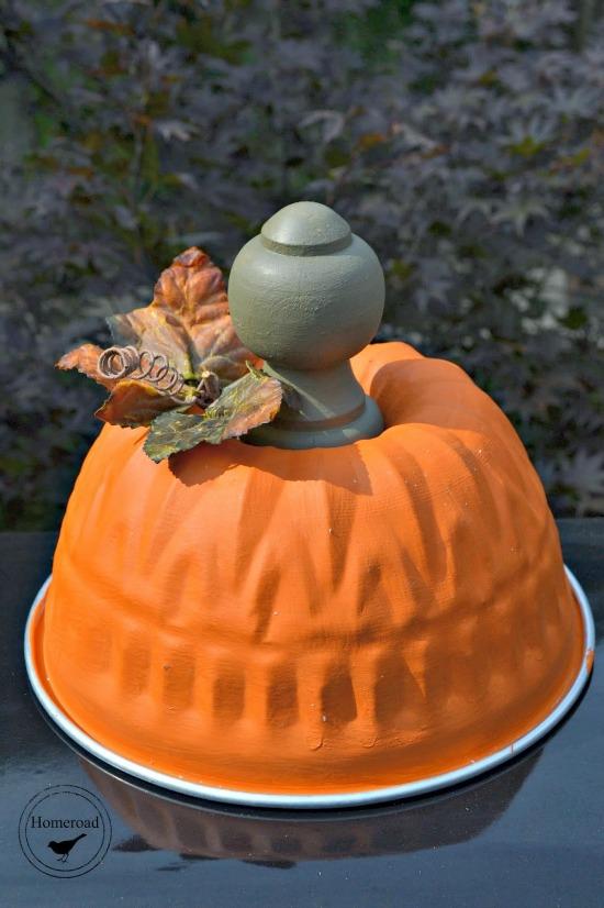 bundt pan pumpkin with wooden stem