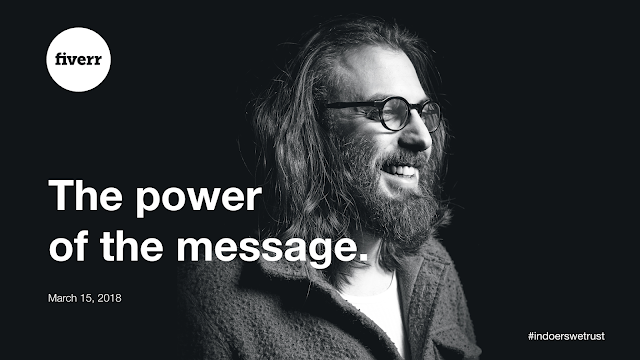 "Paolo Vendramini presents ""The Power of the Message"" at a Fiverr Talk on 15 March 2018 in London"
