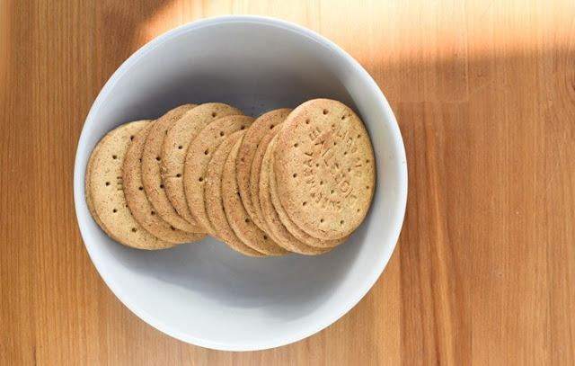 a bowl of digestive biscuits