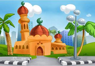 Gambar Kartun Masjid Cantik dan Lucu 201707