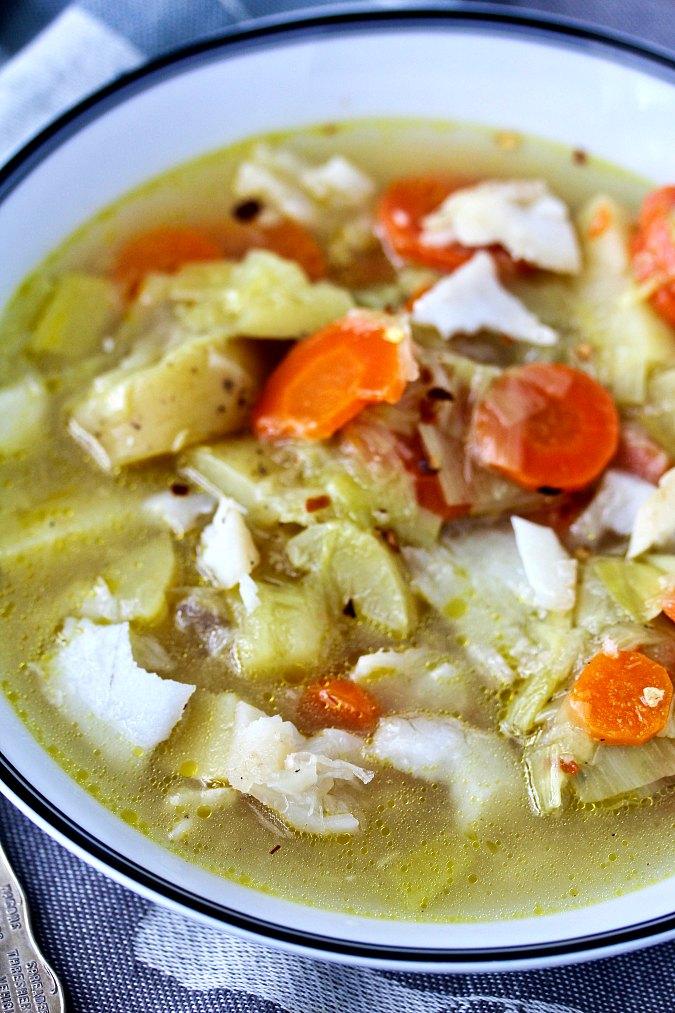 Spanish leek and potato soup