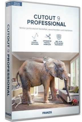 Franzis CutOut 9 professional 9.0.0.1 poster box cover