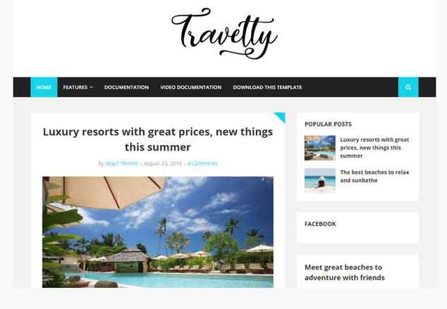 Travelty Blogger Template
