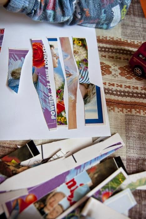 Kolaż ze starych pocztówek