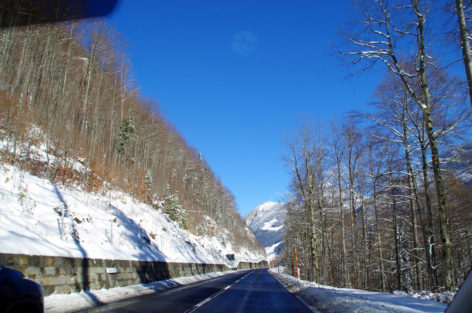 Driving Swiss Alps