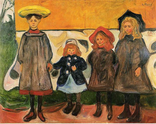Эдвард Мунк - Четыре девочки в Арсгардстранде. 1903