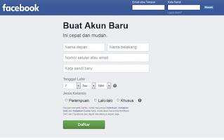 Cara Membuat Akun Facebook Baru handphone