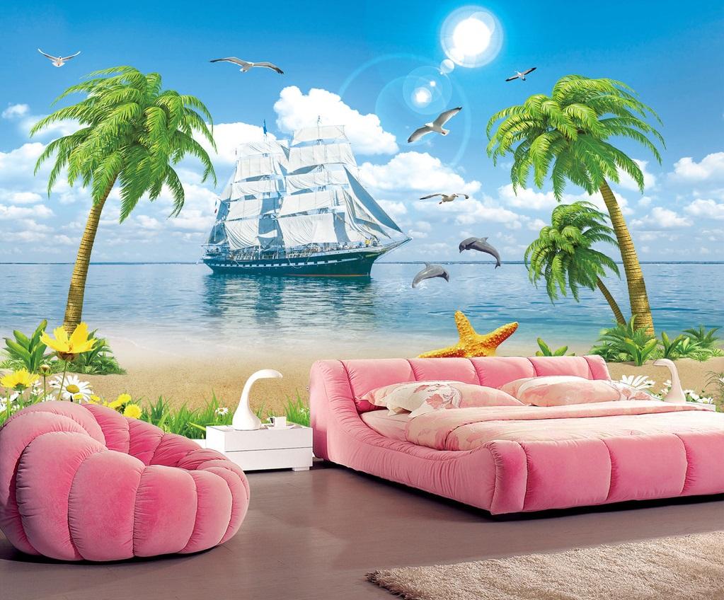 Tranh Thuận Buồm Xuôi gió Phong Cảnh Biển