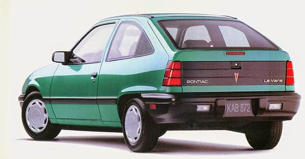 Green Pontiac Le Mans hatchback
