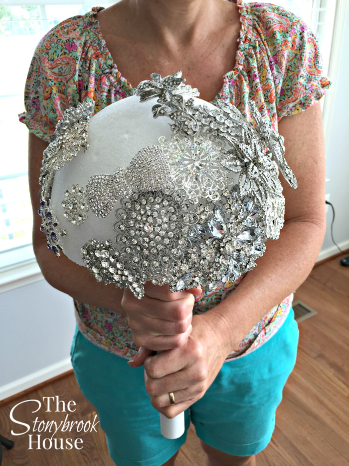 Brooch Bouquet In Progress