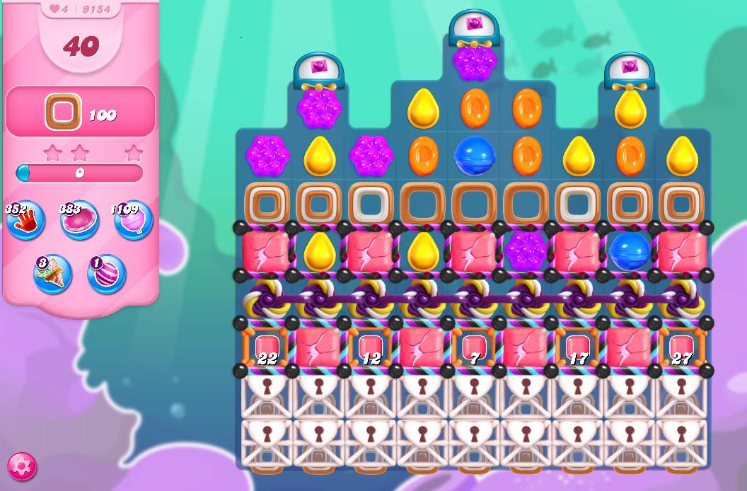 Candy Crush Saga level 9154